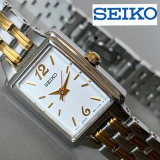 セイコー(SEIKO)の【新品】セイコー スクエア ツートーンゴールド 女性腕時計(腕時計)