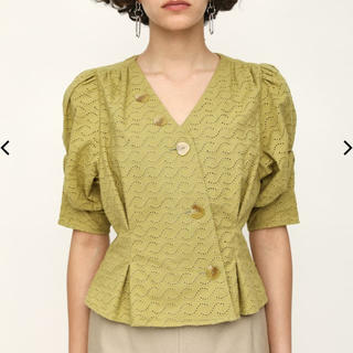 SLY - 春新作*SLY TUCK SLEEVE COTTON LACE トップス