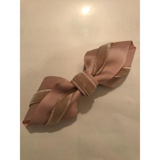 ヘアアクセサリー  バレッタ ピンク リボン(バレッタ/ヘアクリップ)