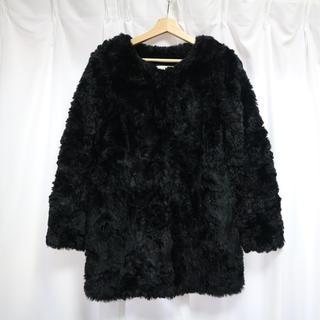 ムルーア(MURUA)のMURUA フェイクファー コート ブラック(毛皮/ファーコート)
