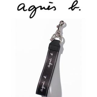 アニエスベー(agnes b.)の【新品】アニエスベー agnes b. ロゴキーストラップ キーホルダー(キーホルダー)