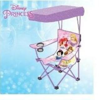 ディズニー(Disney)の新品♪ディズニー プリンセス折り畳みキッズチェア キャノピー付き(その他)