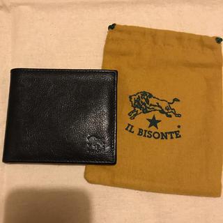IL BISONTE - イルビゾンテ 二つ折財布 ブラック