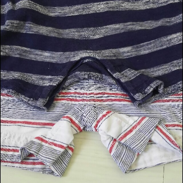 Old Navy(オールドネイビー)の70 OLDNAVYロンパース おまけつき キッズ/ベビー/マタニティのベビー服(~85cm)(ロンパース)の商品写真