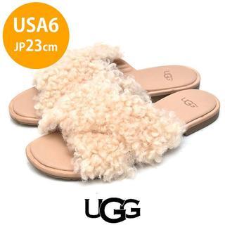 アグ(UGG)の新品❤️アグ モヘア クロス サンダル USA6(JP23cm)(サンダル)