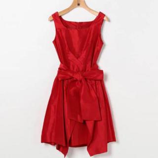 ティアラ(tiara)の定価41440円 tiara ティアラ ドレス レッド(ミディアムドレス)