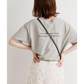 IENA - IENA 《追加》Le Petit Prince ロゴTシャツ C ♡ グレー