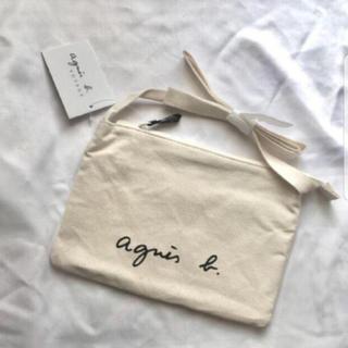 アニエスベー(agnes b.)のアイボリー 白 新品未使用 アニエスベー  肩掛けバッグ ホワイト きなり(ショルダーバッグ)