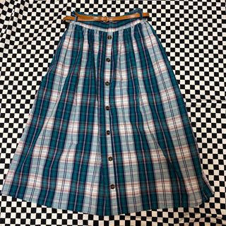 Avail - ベルト付きチェック柄スカート