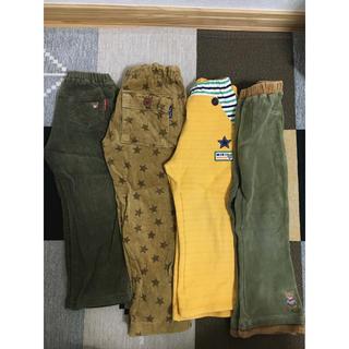 mikihouse - ミキハウス、ブラックベア パンツ100サイズ4本セット