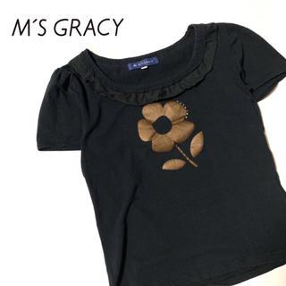 エムズグレイシー(M'S GRACY)のM'S GRACY フラワープリントT エムズグレイシー 38(カットソー(半袖/袖なし))
