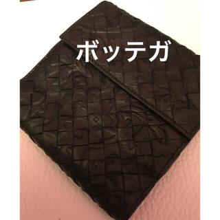 ボッテガヴェネタ(Bottega Veneta)のボッテガヴェネタ ヴィンテージ 二つ折り薔薇模様 小銭入れつき財布(折り財布)