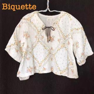 Biquette - ブラウス ビケット Biquette 110 ガーゼ スモッグ トップス