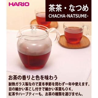 HARIO (ハリオ) 急須 700ml ティーポット 茶茶 なつめ(食器)