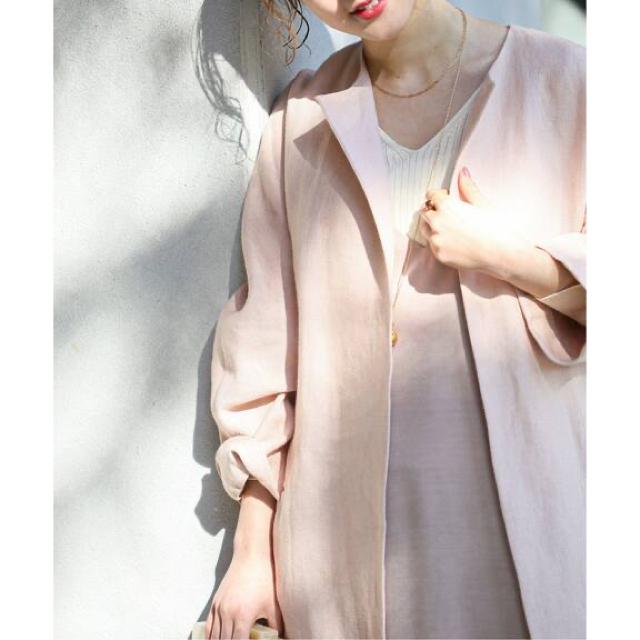 IENA(イエナ)のリネンノーカラーロングコート レディースのジャケット/アウター(ロングコート)の商品写真