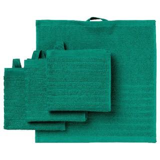 IKEA - イケア タオルハンカチ VAGSJON 30x30 4枚組 ダークグリーン