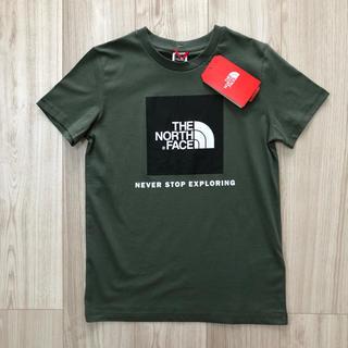 THE NORTH FACE - 【海外限定 】ノースフェイス キッズ ボックスロゴ Tシャツ カーキ 140cm