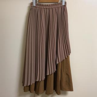 w closet - ☆w closet☆アシンメトリー配色アコーディオンプリーツスカート