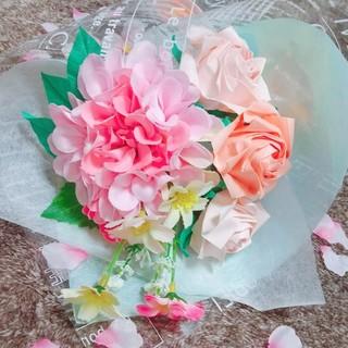 折り紙の薔薇の花束 春色(ドライフラワー)