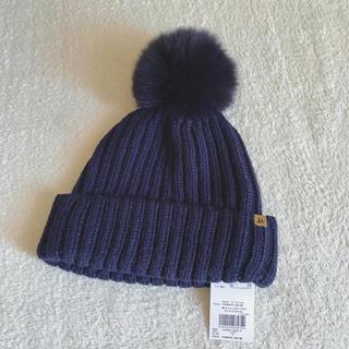 Mila Owen - Mila Owen ポンポン付き2wayニット帽 ミラオーウェン