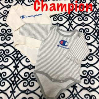 Champion - チャンピオン 長袖 ロンパース 2点 セット 双子 肌着