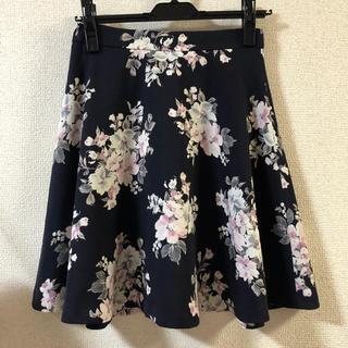 CECIL McBEE - セシル 花柄 スカート ネイビー
