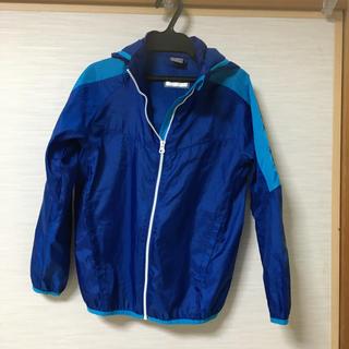 プーマ(PUMA)のPUMA 140 ウィンドブレーカー フード付き ブルー ポリエステル100%(ジャケット/上着)