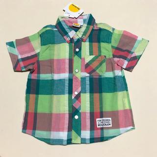 mou jon jon - 新品 mou jon jon 半袖シャツ チェックシャツ 95