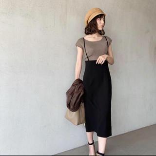 ノーブル(Noble)の中村麻美私服着用 noble ショルダーサロペットスカート(ひざ丈スカート)