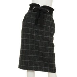 アウラアイラ(AULA AILA)の新品タグ付き AULA アウラ ウール100% チェックタイトスカート(ロングスカート)
