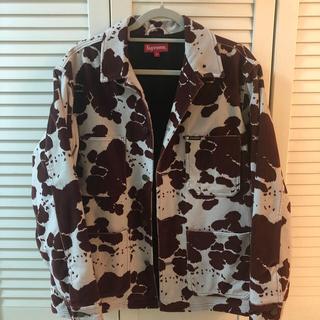シュプリーム(Supreme)のsupreme velvet chore coat cow Mサイズ(カバーオール)