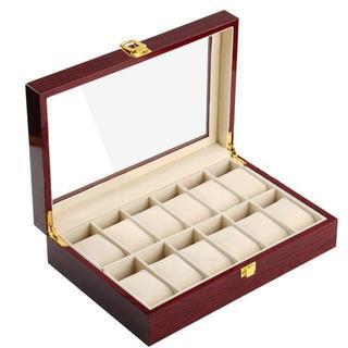 木製 腕時計収納 ボックス 12本用 コレクション ケース ディスプレイ ピアノ(腕時計(アナログ))