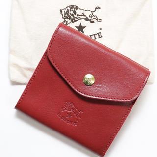 IL BISONTE - 新品 イルビゾンテ 二つ折り 財布 Wホック レザー コインケース 人気 レッド