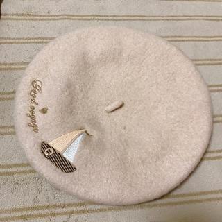 アクシーズファム(axes femme)のレディース ベージュ ベレー帽(ハンチング/ベレー帽)