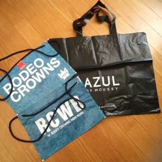 ロデオクラウンズ(RODEO CROWNS)のロデオクラウンズ★ AZULビニールショップ袋 (ショップ袋)