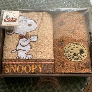 SNOOPY - SNOOPYスヌーピー フェイスタオル、ウォッシュタオル2枚セット
