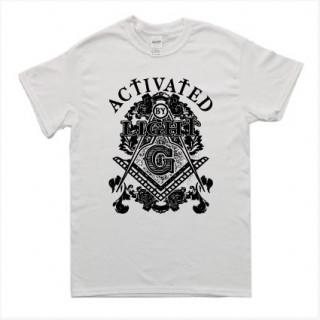 フリーメイソン ストリート系 イラスト ロゴ 半袖 Tシャツ git16(Tシャツ/カットソー(半袖/袖なし))