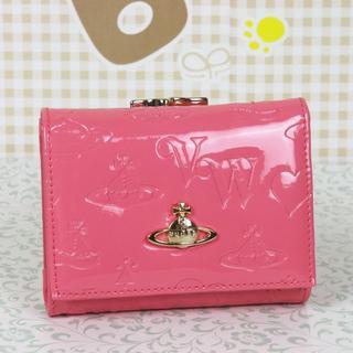 ヴィヴィアンウエストウッド(Vivienne Westwood)の週末セール★ヴィアンウエストウッド 折財布 がま口財布 エナメル (財布)