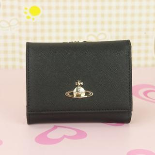 ヴィヴィアンウエストウッド(Vivienne Westwood)のセール★ヴィヴィアンウエストウッド 折財布 がま口財布 ブラック(財布)