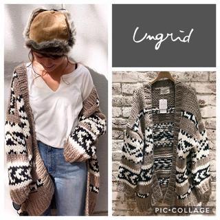 Ungrid - Ungrid**ジャガードニットガウン