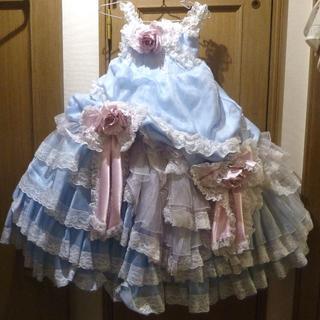 スタジオ撮影使用 子供用ドレス(水色) サイズ100