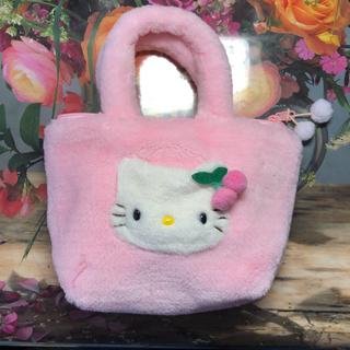 ハローキティ - 【未使用】キティ モコモコバック ピンク