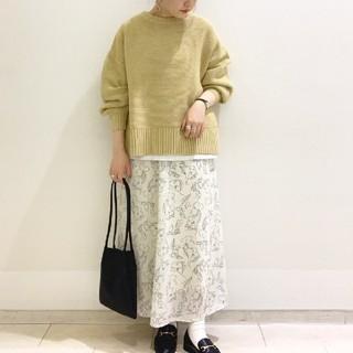 ローリーズファーム(LOWRYS FARM)の今季 完売 ローリーズファーム センガラクルミボタンスカート 花柄スカート(ロングスカート)