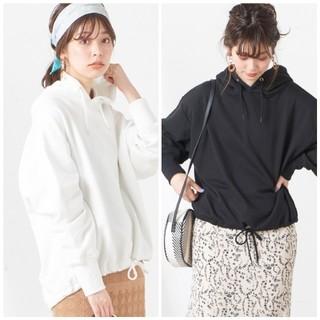 ナチュラルクチュール(natural couture)のナチュラルクチュール 裾ドロストビッグ裏毛パーカー 2着セット(パーカー)