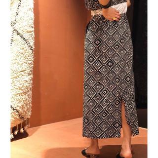 BEAUTY&YOUTH UNITED ARROWS - <6(ROKU)>PRINT LONG SKIRT/スカート