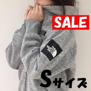 THE NORTH FACE - セール★Sサイズ★ノースフェイス スクエア ロゴ フルジップ フーディー グレー