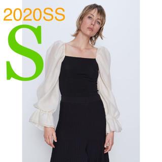 ZARA - *2020SS*ZARA コントラスト スリーブ トップス