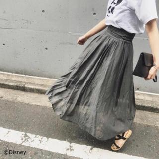 フレームワーク(FRAMeWORK)の【新品タグ付】FRAMeWORK メンアサスラブローン ギャザースカート(ロングスカート)