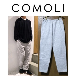 COMOLI - COMOLI インレイ起毛 スウェットパンツ 1 ヘザーグレー