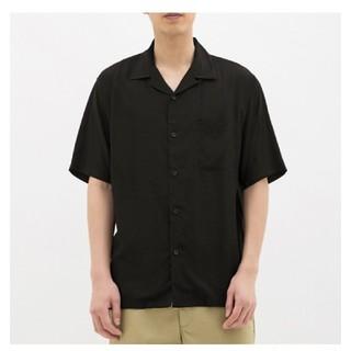 GU - gu  オープンカラーシャツ  黒